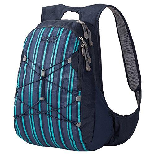(Jack Wolfskin Savona Daypack, Blue Woven Stripes, 20 L)