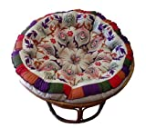 Cotton Craft Papasan Round Cushion for 45-Inch Chair, Peacock Purple