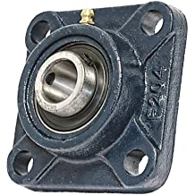 """3/4"""" Mounted Bearing UCF204-12 + Square Flanged Cast Housing"""