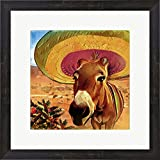 Great Art Now Fiesta Mule by ALI Chris Framed Art Print Wall Picture, Espresso Brown Frame, 19 x 19 inches