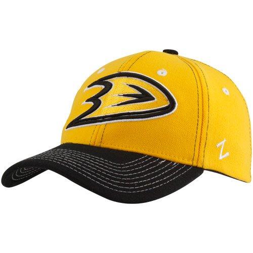 nhl-zephyr-anaheim-ducks-gold-jumbotron-z-fit-hat-medium-large