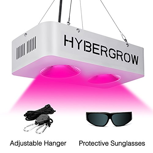 LED Grow Light for Indoor Plants 400w,COB LED Grow Lights Full Spectrum with UV/IR for Veg and Flower,Adjustable Hanging Hook Included by HYBERGROW