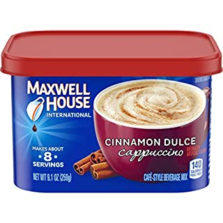Maxwell House International Cinnamon Dulce Cappuccino Instant Coffee (9.1 oz Canisters, Pack of 4)