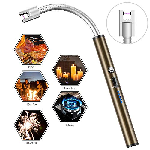 Boncas Flexible Arc Lighter USB Candle Lighter Plasma Lighter Rechargeable Windproof Lighter Long for Household Camping Cooking BBQ (Candle not Included) by Boncas (Image #6)
