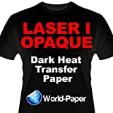 Laser 1 Opaque 1 Step/Darks Heat Transfer Paper For Laser Printers 8.5x11 (100 Sheets)