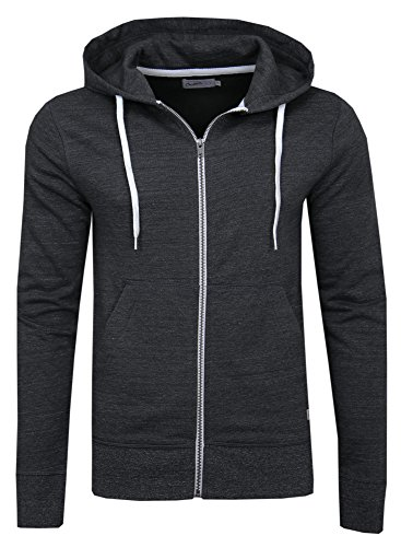 Giacca Grey Uomo Sweat Hood Fit Dunkel Grau Jorstorm Meliert Jack Slim Zip Noos Jones amp; Basic Dark OwSxqC8