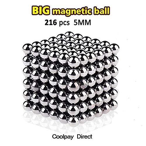 Exblue 5MM Block Ball Cube,Sculpture Building Blocks Toys Intelligence Development Stress Relief,216 Pieces