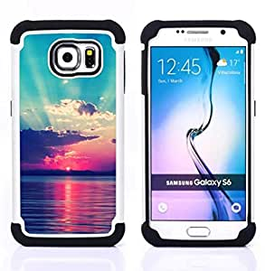 - Summer Story - - Fulland Deluxe Hybrid TUFF Rugged Shockproof Rubber + Hard Case Cover FOR Samsung Galaxy S6 G9200 Queen Pattern