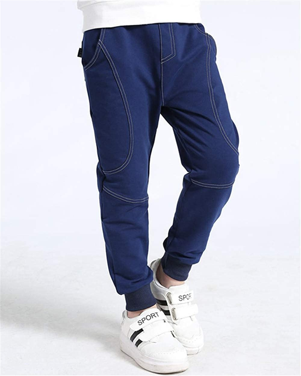 Pantaloni Sportivi Harajuku 120 Cm-160 Cm Cuciture Monocromatiche Tasty Life Pantaloni Sportivi da Ragazzo Pantaloni Jogging Morbidi Caldi Pantaloni Invernali per Bambini
