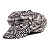 YRUS Autumn Winter Female Retro newsboy Hat Felt Hat Casual Thick Octagonal Cap