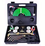 Amazing Product USA Gas Cutting Welder Welding Kit Tool Set Oxy Oxygen Acetylene Torch Victor Fit with Hose, Regulator & Case