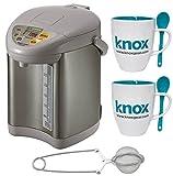 zojirushi mug with tea infuser - Zojirushi CD-JWC30HS Micom Water Boiler and Warmer, Silver Gray + Tea Infuser and Knox Mugs