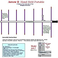 Arrow Antennas 440-7 Seven Element Portable Hand Held Yagi - for 70 cm (37 1/2 Boom)