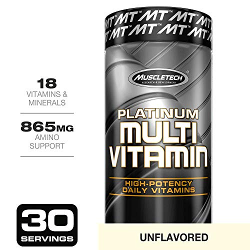 MuscleTech Advanced Daily Multivitamin for Men & Women, Includes Amino Acids, 18 Vitamins & Minerals (100% Daily Vitamins A, C, D, E, B6 & B12), 90 Count (Vitamins Workout)