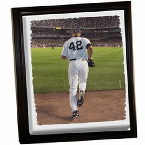 Mariano Rivera Entering Game - New York Yankees Mariano Rivera Entering Game Framed Stretched 32X40 Canvas