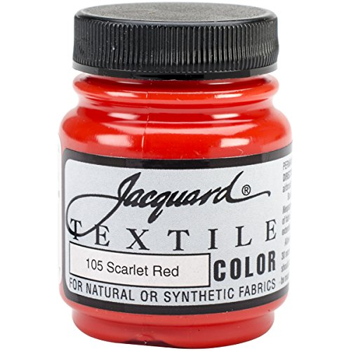 (Jacquard Products Textile Color Fabric Paint, 2.25-Ounce, Scarlet Red)