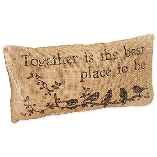 Small Burlap Together Country Pillow [並行輸入品] B07RCF99KR