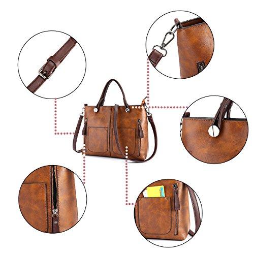 Top Women Grey JOSEKO Dating Satchel Soft Large Brown Bags Handbags Crossbody Tote Leather Bags Capacity Retro Handle Solid wrIRaw