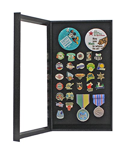 Pin Collector's Display Case Shadow Box - for Disney, Hard Rock, Olympic, Political Campaign Pins, and Medals