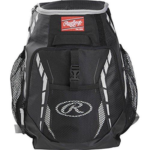 Rawlings R500 Series Baseball/Softball Backpack, Black ()