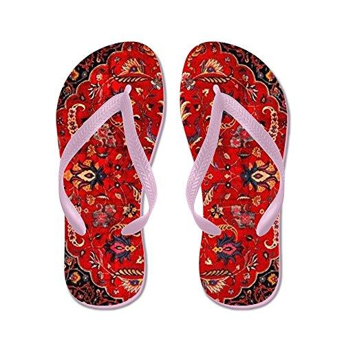 - CafePress - Persian Mashad Rug - Flip Flops, Funny Thong Sandals, Beach Sandals Pink