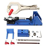 Portable Pocket Hole Jig Kit System Woodworking Tool for Screw Drill Carpenter