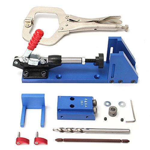 Portable Pocket Hole Jig Kit System Woodworking Tool for Screw Drill Carpenter by SPK603