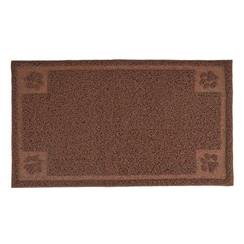 Mogoko Cat Mat PVC Litter Mat Dog Feeding Mat Pet Foot Pad Waterproof Pet Food Mat Cushion For Pet (11.7 x 19.5 Inches)