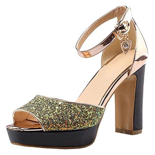 Or Sandales Les Femmes Taoffen Taoffen Talons À Bloc Chaussures Les Femmes YvxxPRnwqA