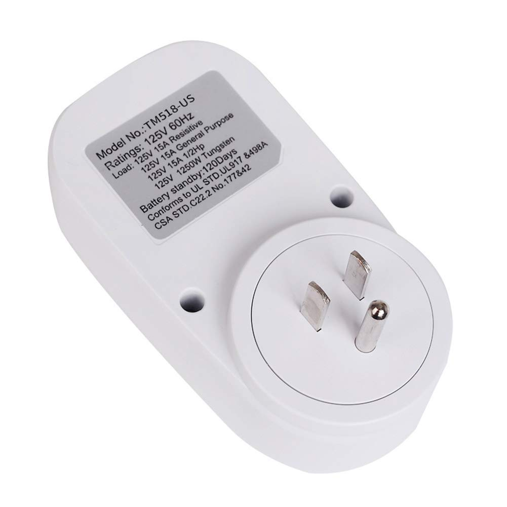 Aardich Timer Outlet Multifunctional Programmable Plug-in Digital Timer Switch for Appliances Extra-large LCD Display Programmable Settings US Plug Home and Kitchen