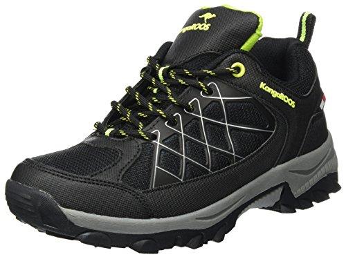 KangaROOS Loop, Sneaker Unisex-Adulto Nero (Jet Black/Lime 5008)