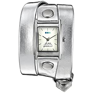 La Mer Collections Wander Lust 00001 0.5mm Leather Synthetic Silver Watch Bracelet