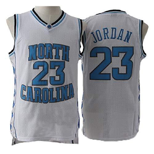 meetziis Men's #23 Basketball Jerseys Retro Jersey White and Blue(S-XXL) (s)