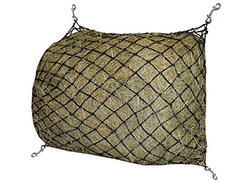 """Derby Originals 30 Hour Slow Feed Poly Rope Hanging Hay Net with 2x2"""" Holes, Hunter Green ()"""