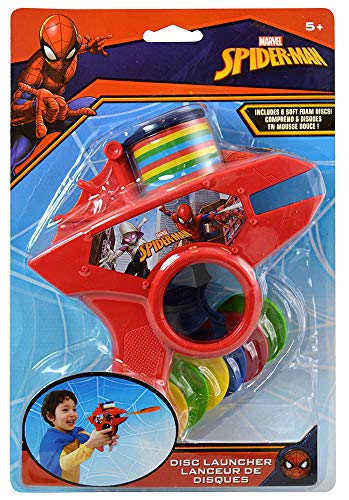Spider-Man Basketball Set, Turbo Copter, Disc Launcher, and Stickerpad Bundle by Clever Home (Image #1)