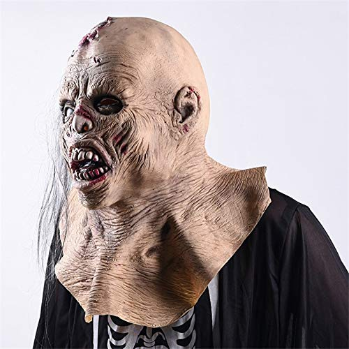 Halloween Horror Mask Zombie Mask Party Cosplay Bloody Scab Rot Face Scary Masque Masquerade Masker Latex Halloween Scary Prop