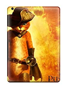 New Snap-on CaseyKBrown Skin Case Cover Compatible With Ipad Air- 2011 Puss In Boots Movie