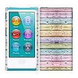 Apple iPod Nano 7 (7th Generation) Case, Fincibo (TM) Back Cover Hard Plastic Protector, Bright Colorful Wood