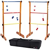 GSE Games & Sports Expert Premium Ladder Ball Toss Outdoor Lawn Game Set with Ladderball Bolas & Carrying Case