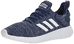 Clean and contemporary. These men's running-inspired shoes have a stretch mesh build for a snug fit. They're branded with an adidas heel strap and finished with ultra-comfortable Cloudfoam cushioning.