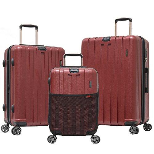 Olympia Sidewinder 3 Piece Luggage Set 21/25/29 Inch, Wine