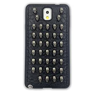 Top HipTMGalaxy Note 3 Case, Skulls Spikes Leather protector Case TPU Armor Bumper for Galaxy Note 3 Case (Skulls-b)