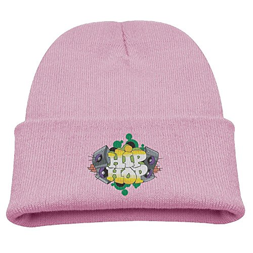Hip Hop Dance Group Costumes (Suzhou Children Hip Hop Girls&Boys Winter Warm and Comfortabl Cute Pattern Knitting Hat Beanie Skull Cap Pink)