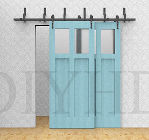 Attractive Amazon.com: DIYHD 6ft Bypass Sliding Barn Wood Door Track Hardware Kit  Arrow Rustic Black Barn Closet Interior Sliding Door Partition Wood Door  Hardware ...