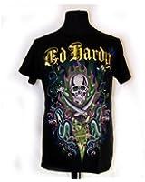 Ed Hardy Shirt 'Two Swords, Skulls & Snakes'(A9CBJGHL)