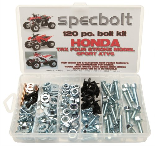 120pc Specbolt Bolt Kit for Maintenance & Restoration fits: Honda 400EX 250EX OEM Spec Fasteners Quad TRX400EX TRX250X aslo Great for ATC & TRX 350x 300ex 300x 250ex 250x 200sx 200s 200x & TRX90