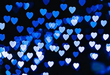 Amazon Com Laeacco 7x5ft Vinyl Photography Background Flying Hearts Blue Lights Blue Background Valentine S Day Hearts Design Dark Blue Background Shiny Bokeh Lovers Girls Baby Children Birthday Party Holiday Camera