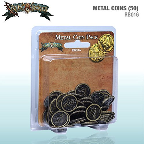 Rum And Bones Metal Coins Pack (50) Accessories Cool Mini Or Not