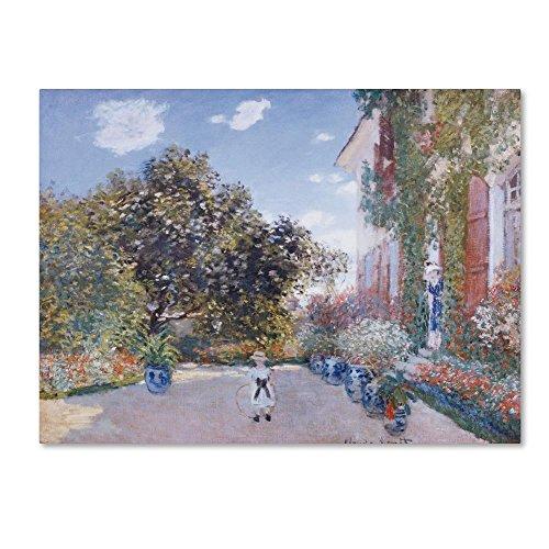 Trademark Fine Art Garden of the Artist by Claude Monet, 24x32-Inch Canvas Wall Art