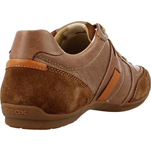 GEOX Sneaker Invernale Uomo Houston U62P1A 000CL Dk Brown (C6006) Vitello Cerato N. 39